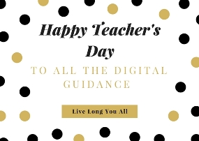 Thanks To all Digital Guides on Teacher's Day